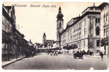 Cluj  Kolozsvar str.Kossuth ,carute,ilustrata animata  1918, Cluj Napoca, Necirculata, Printata