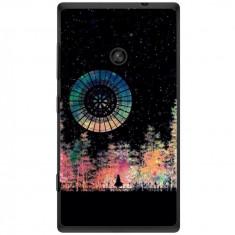 Husa Colorful Dark Night Lonely Girl Nokia Lumia 520 - Husa Telefon
