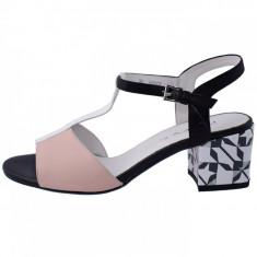 Sandale dama, marca Deska, 33265-92-33, culoare roz/negru, marime 35