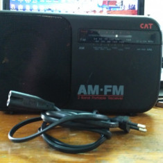 APARAT RADIO AM FM CAT RX26, Analog
