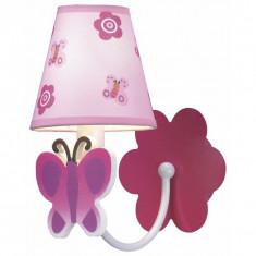 Aplica copii 1 bec Pink Butterfly - Corp de iluminat