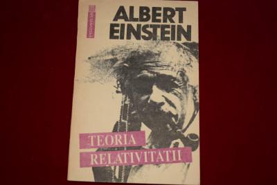 Teoria relativitatii - Albert Einstein foto