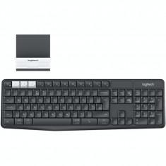 Tastatura Logitech K375s Multi Device, Fara Fir, USB Receiver, Bluetooth Smart, Stand smartphone/tableta universal, Negru - Tastatura PC