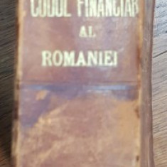 CODUL FINANCIAR AL ROMANIEI de M. B . SILISTEANU , 1895