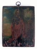 Icoana sec 19 pictata pe lemn Sfanta Varvara ocrotitoarea militarilor