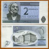 !!!  ESTONIA  -   2  KROONI  1992  -  P  70  - UNC