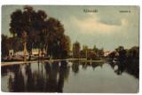 Cluj  Kolozsvar,ilustrata  circulata in 1909,lacul din parc, Cluj Napoca, Printata