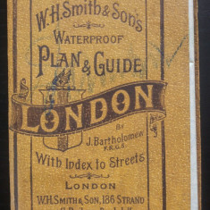 W.H. Smith's & Son's London waterproof plan & guide.. 1900 - Harta Turistica
