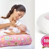 Perna multifunctionala pentru alaptat + husa detasabila; perna bebe