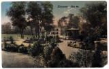 Cluj  Kolozsvar,ilustrata  circulata 1914,chioscul,parcul,locul de promenada, Cluj Napoca, Printata
