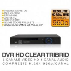 DVR HD-CVI / CVR, ICS-HD CLEAR TRIBRID, 8 Canale Video, Vizualizare pe Internet - Sistem DVR ICANSEE