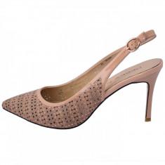 Pantofi decupati dama, marca Deska, 33239--03-33, culoare bej, marime 38