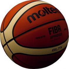 Minge baschet Molten GL7X piele naturala - FIBA OFFICIAL MATCH BALL, Marime: 7