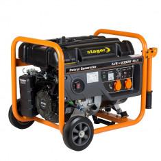 Generator curent Stager GG 7300-3W, Open frame, Benzina, 5.8 kW, Trifazat, Generatoare digitale