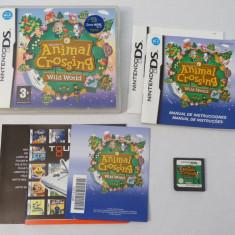 Joc consola Nintendo DS 3DS - Animal Crossing Wild World - complet, Actiune, Toate varstele, Single player