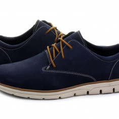 Pantofi Timberland Bradstreet Oxford Black Iris A1K5D nr. 41, 5 - Pantofi barbat Timberland, Culoare: Albastru, Piele intoarsa, Sport