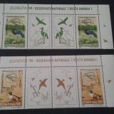 Romania 1999-LP 1485a-Europa 99-2X-Rezervatii naturale cu vinieta,nestampilate., Nestampilat