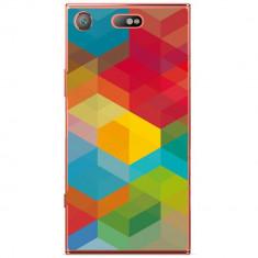 Husa Colored Cubes Sony Xperia Xz1 Compact - Husa Telefon