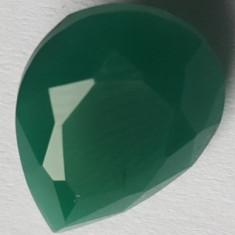 Set 6 pietre smarald verzi pentru colier, inel, cercei, dimensiune 2 X 1.6 cm - Set bijuterii handmade si fashion