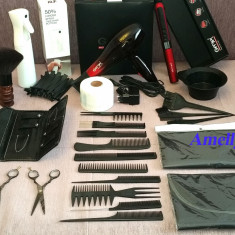 Set kit frizerie coafat coafor produse scoala foarfeca tuns filat pamatuf femei