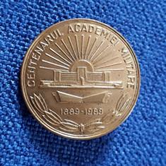 Insigna Centenarul academiei militare - 1989