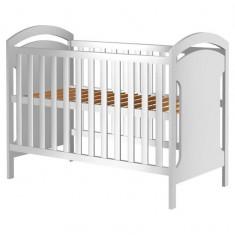 Patut copii din lemn Hubners Hansell 120x60 cm alb - Patut lemn pentru bebelusi