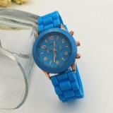 Ceas Geneva, damă, bleu, casual, nou, Quartz, Otel