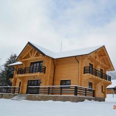 Case pensiuni din lemn rotund calibrat
