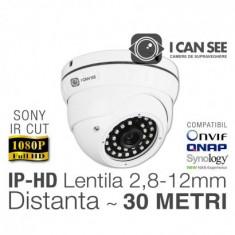 Camera de supraveghere ICSAV-IP2400S V1, Dome Anti-Vandal, SONY, Full HD ICANSEE