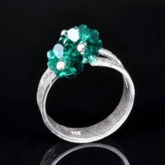 Inel Argint si cristale si perle swarovski