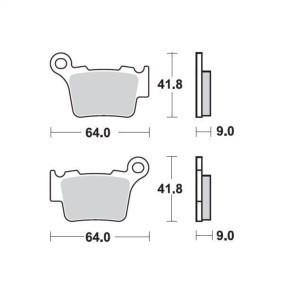 Placute frana Moto Master MX Medium Sinter SX/EXC 2/4T 2004- SX200/250 2T 2003 Cod Produs: MX_NEW 94411AU foto mare
