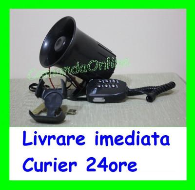 Sirena Politie 6 melodii cu microfon - CRR-IT specific Politiei AL-TCT-622 foto