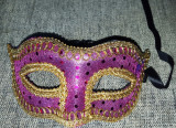Masca carnaval venetiana Venetia pentru adulti, Universal, Mov