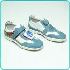 NOI, DE FIRMA → Pantofi sport—adidasi, din piele, MELANIA → baieti | nr. 38 - Pantofi copii Melania, Culoare: Din imagine, Piele naturala