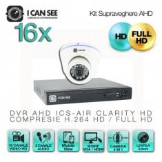 Kit AHD ICS-KU210-16A, cu 16 camere ICSA-UHD2100A + DVR ICS-AIR CLARITY HD