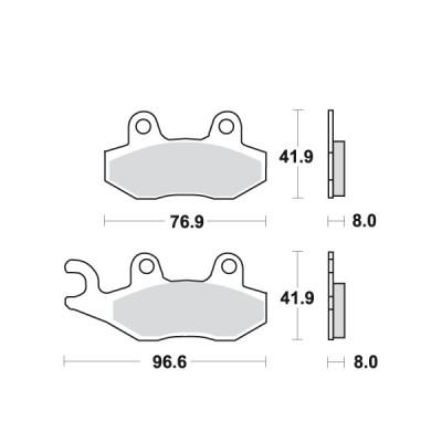 Placute frana MCB582SI Cod Produs: MX_NEW 7872930MA foto