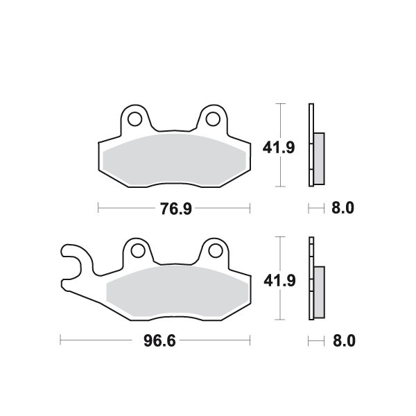 Placute frana MCB582SI Cod Produs: MX_NEW 7872930MA foto mare