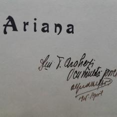 Alfred Hefter-HIDALGO(dedicatie/semnatura pentru Arghezi) ARIANA, 1915