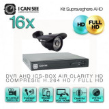 Kit AHD ICS-KU100-16S, cu 16 camere ICSS-UHD1000B + DVR ICS-AIR CLARITY HD