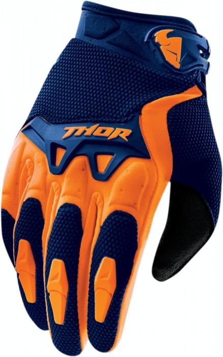 Manusi motocross Thor SPECTRUM S15, bleumarin/portocaliu, XL Cod Produs: MX_NEW 33303406PE foto mare