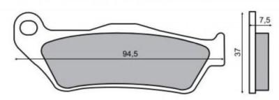 Placute frana fata MBK Skyliner 125 '8 Cod Produs: MX_NEW 55829OL foto