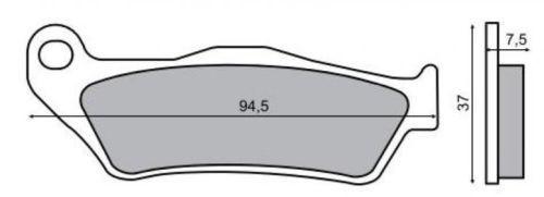 Placute frana fata MBK Skyliner 125 '8 Cod Produs: MX_NEW 55829OL foto mare