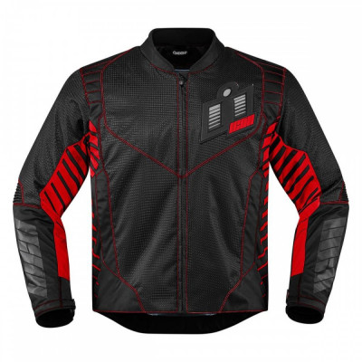 Geaca textila Icon Wireform, negru/rosu, M Cod Produs: MX_NEW 28203604PE foto