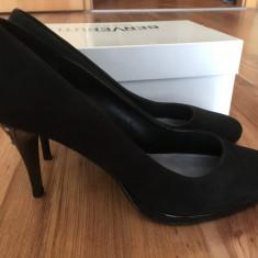 Pantofi stiletto - Pantof dama Benvenuti, Culoare: Negru, Marime: 39, Cu toc