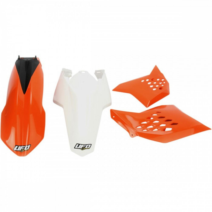Kit plastice KTM EXC 2011, portocaliu/alb, culoare OEM Cod Produs: MX_NEW 14030900PE foto mare