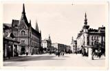Cluj Kolozsvar,palate, strada Horthy Miklos animata,carute,masini de epoca 1940, Necirculata, Printata, Cluj Napoca