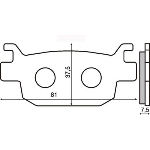 Placute frana sinter Honda Jazz 250 spate Cod Produs: MX_NEW 225102563RM foto mare