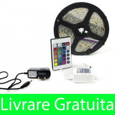 Kit complet banda RGB 150 SMD telecomanda 24 taste