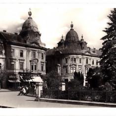 Cluj Kolozsvar turnurile gemene din centru, ilustrata animata circulata in 1940 - Carte Postala Transilvania dupa 1918, Printata, Cluj Napoca