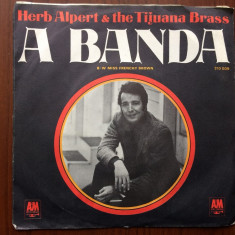Herb alpert the tijuana brass a banda miss frenchy brown single disc vinyl jazz - Muzica Jazz A&M rec, VINIL